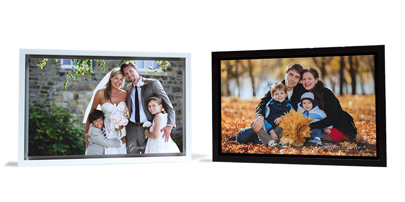 framed gallery wraps with families