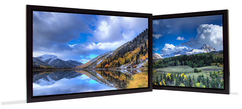 framed gallery wraps with landscape images