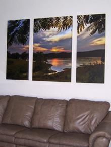 Norris Lake Triptych by Hazel Erikson