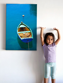 Rowboat, a large canvas gallery wrap by M. Belhaj