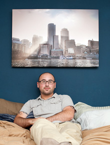 Skyline photo on canvas by Scott Kivowitz